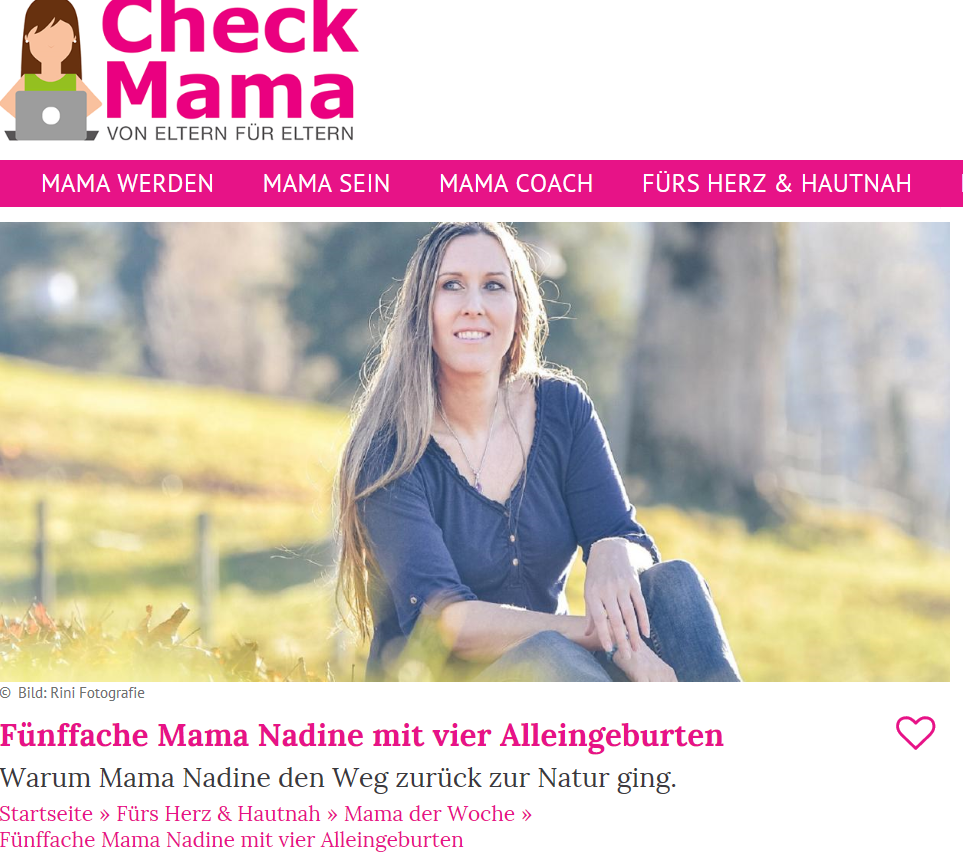 Interview Nadine WEnger Checkmama